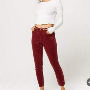 RSQ High Rise Ankle Corduroy Skinny Jeans